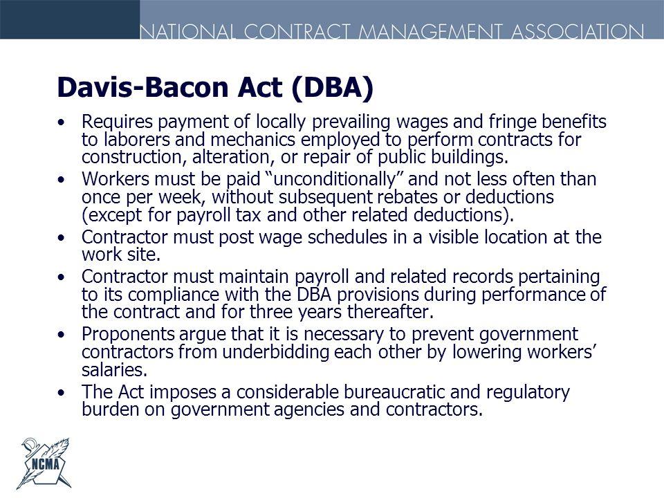 Davis-Bacon Act (DBA)