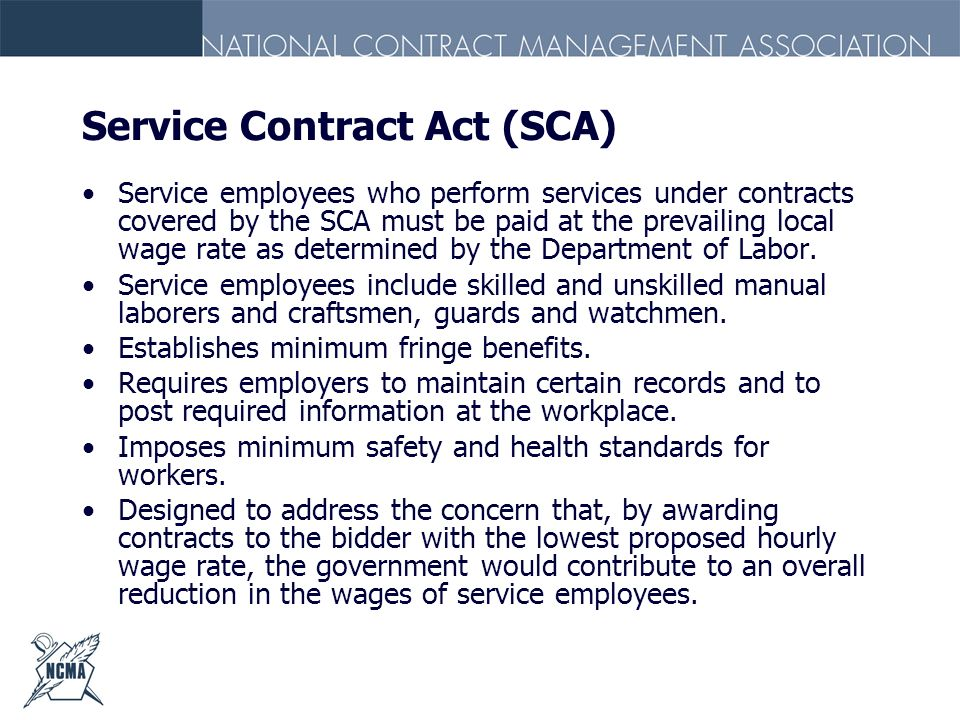 Service Contract Act (SCA)