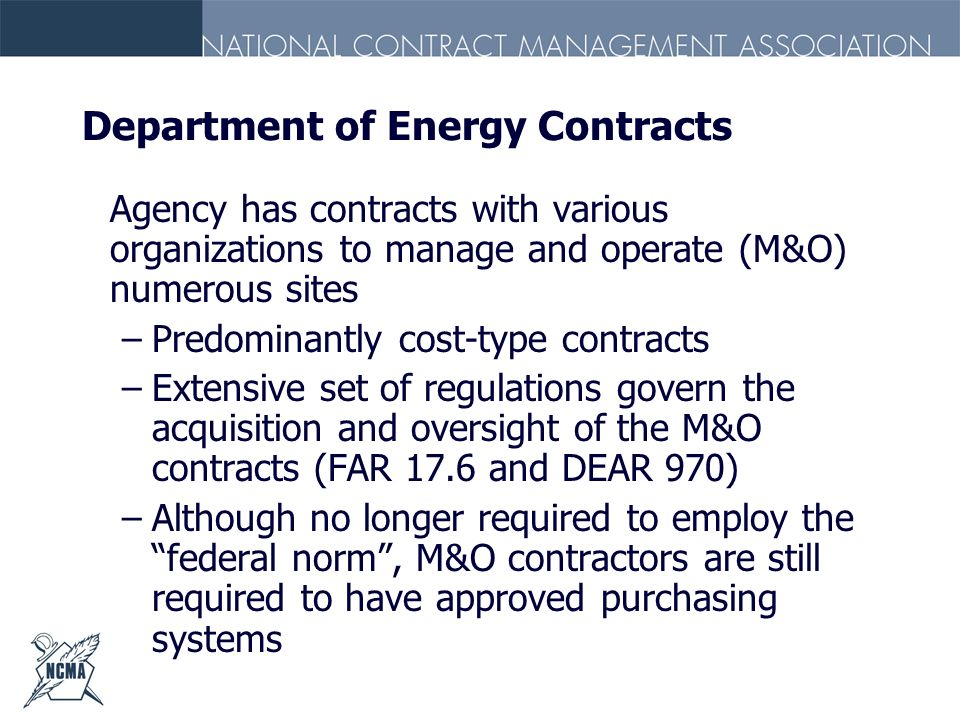 Department of Energy Contracts