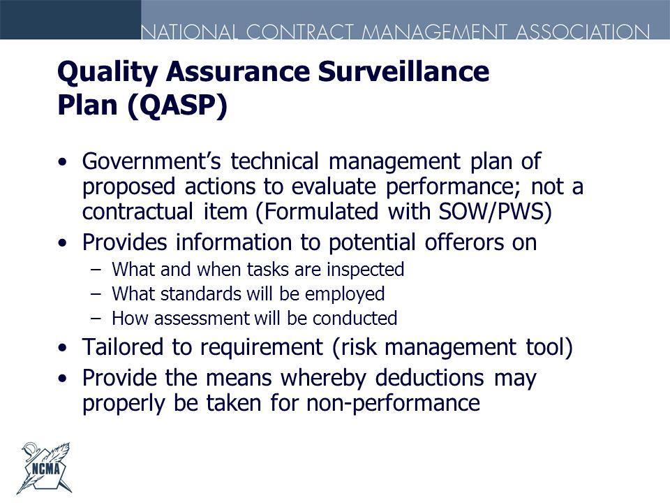 Quality Assurance Surveillance Plan (QASP)
