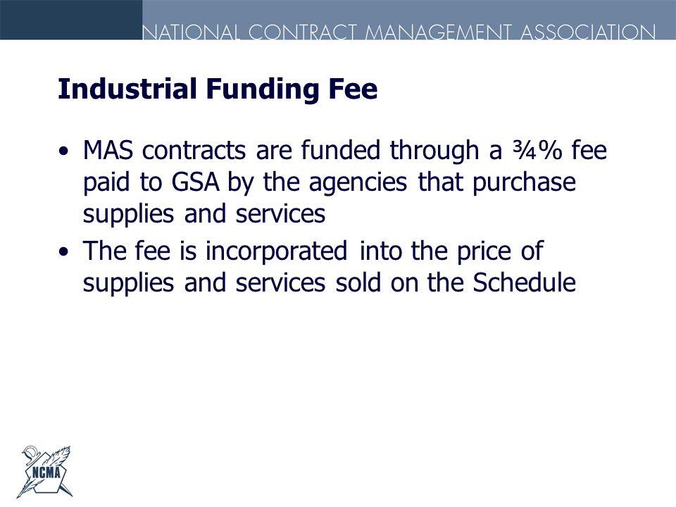 Industrial Funding Fee