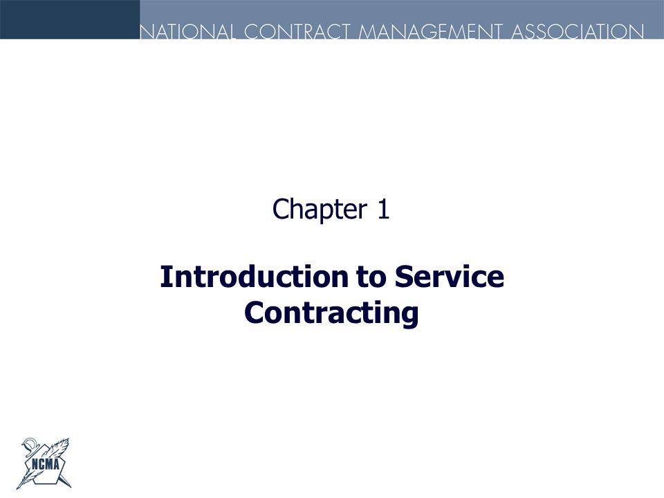 Introduction to Service Contracting