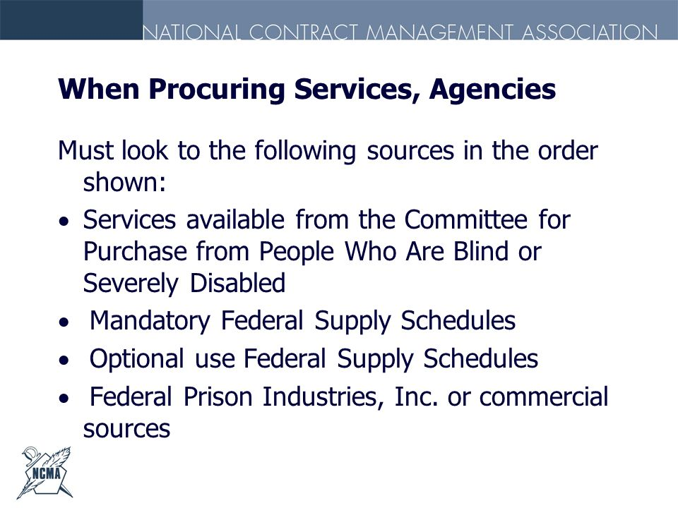 When Procuring Services, Agencies