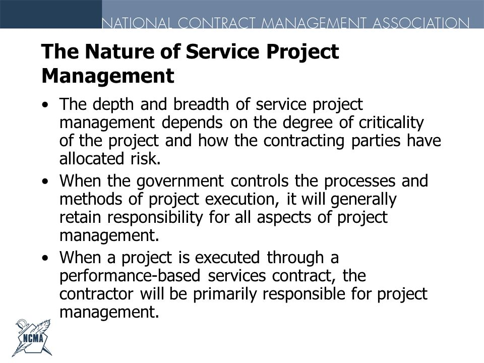 The Nature of Service Project Management