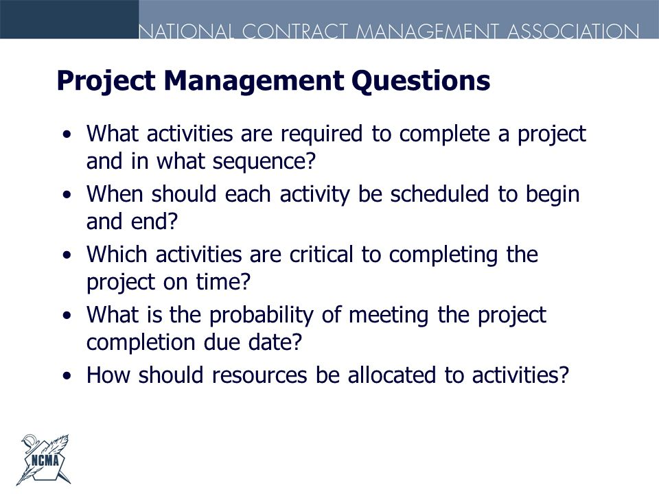 Project Management Questions