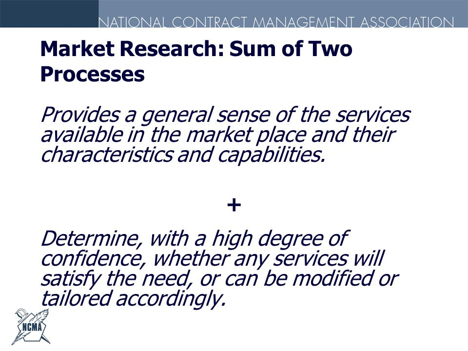 Market Research: Sum of Two Processes