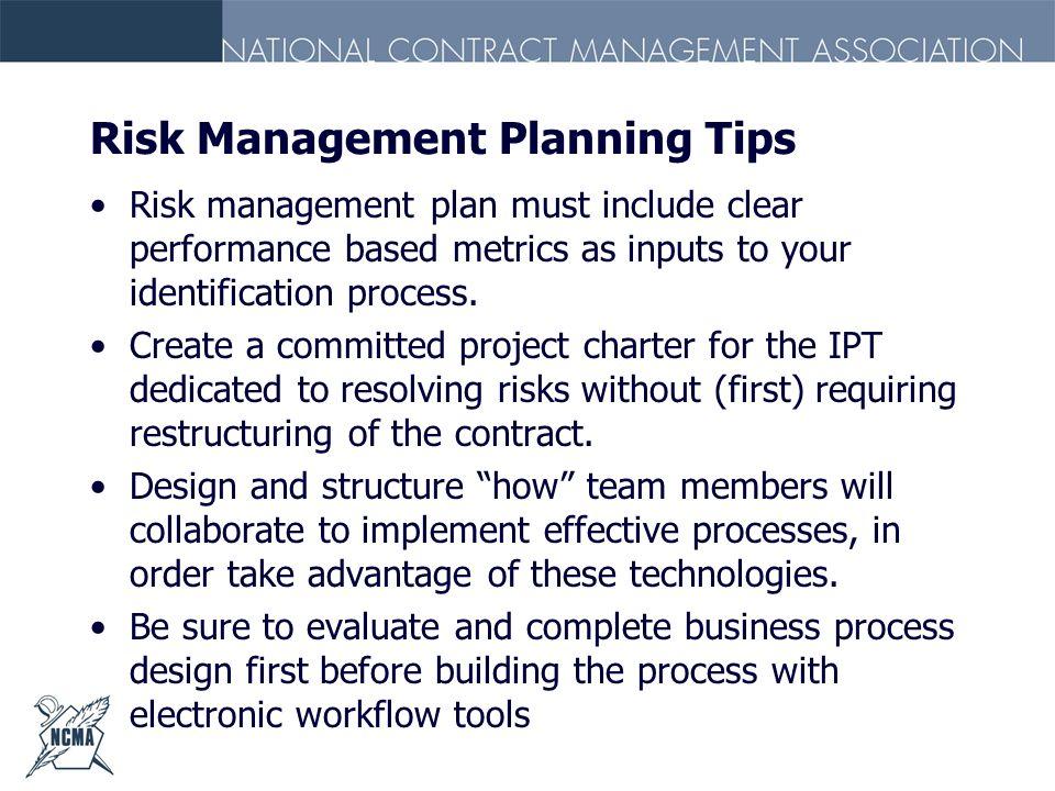 Risk Management Planning Tips