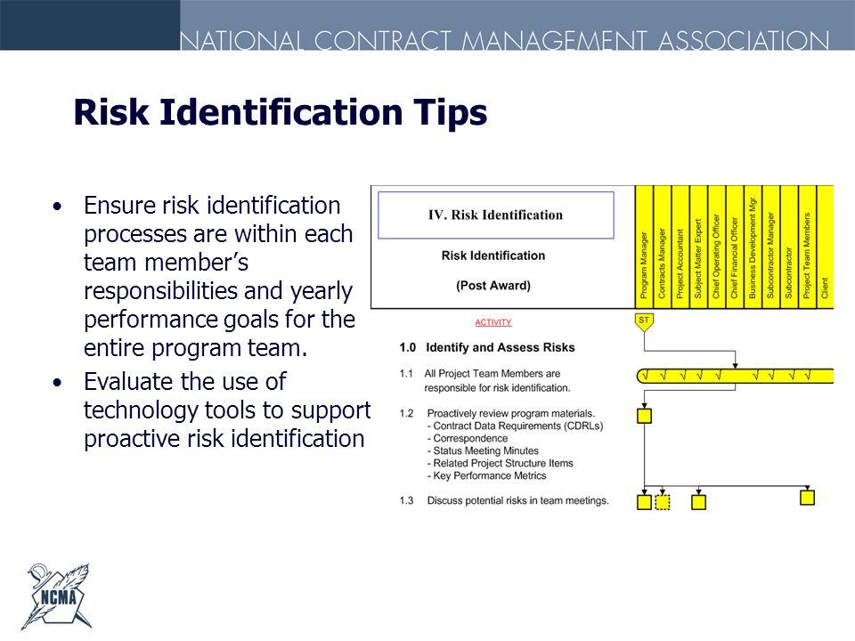 Risk Identification Tips