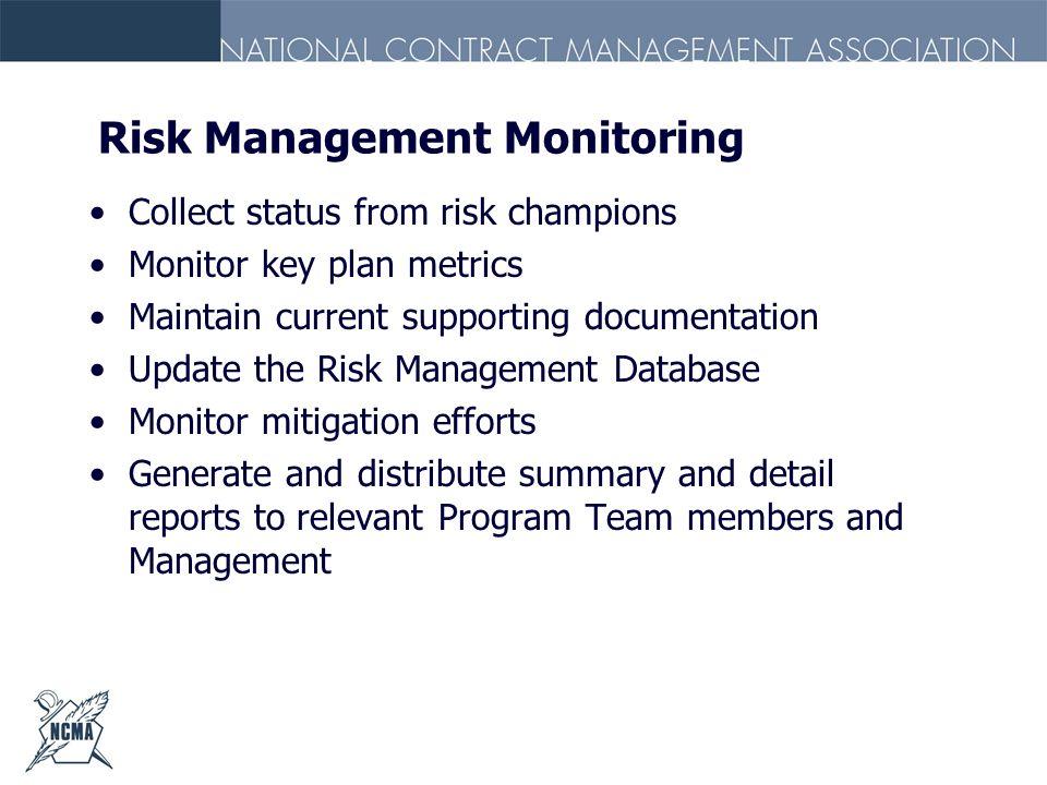 Risk Management Monitoring