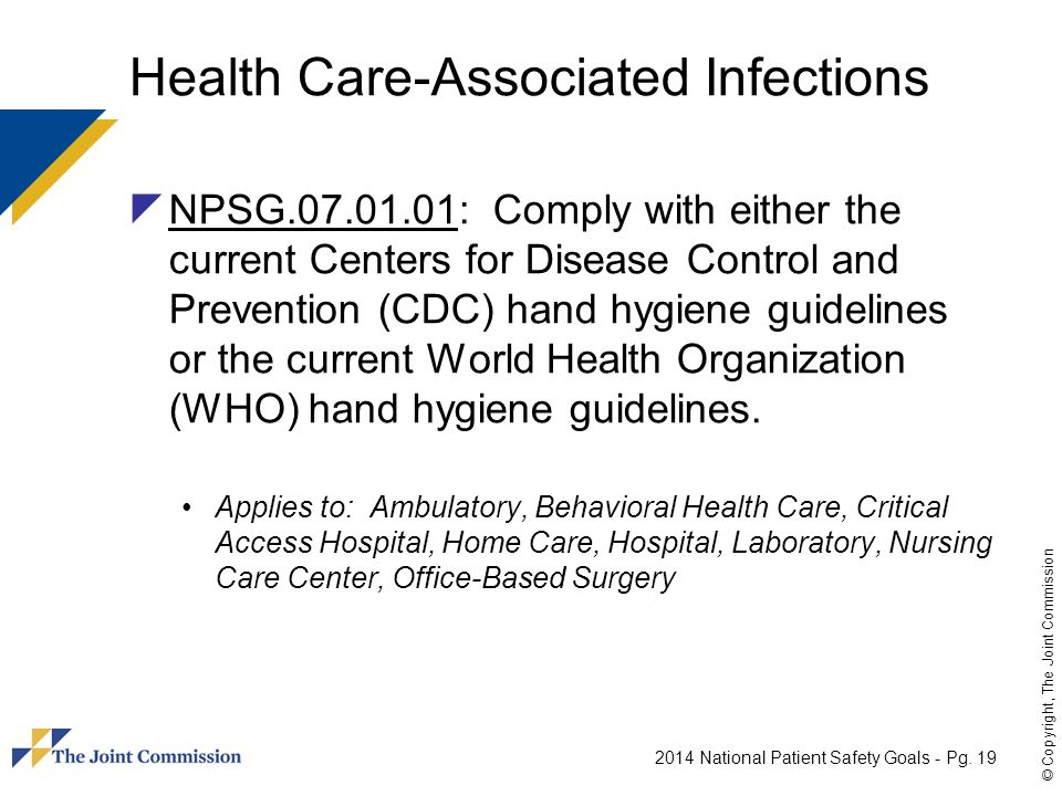Health Care-Associated Infections