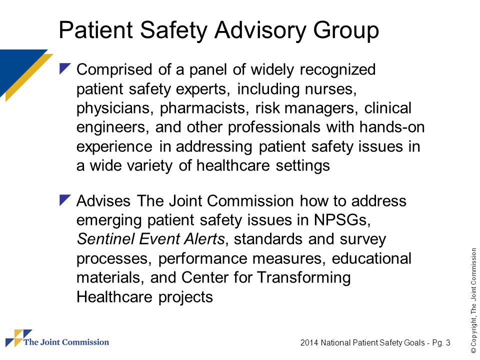 Patient Safety Advisory Group