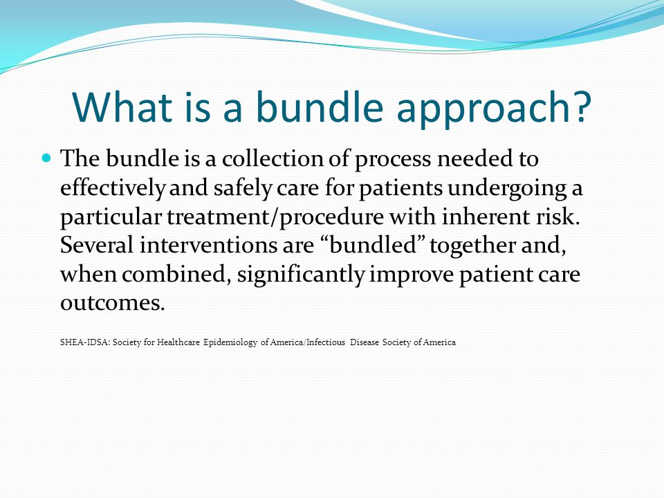 What is a bundle approach