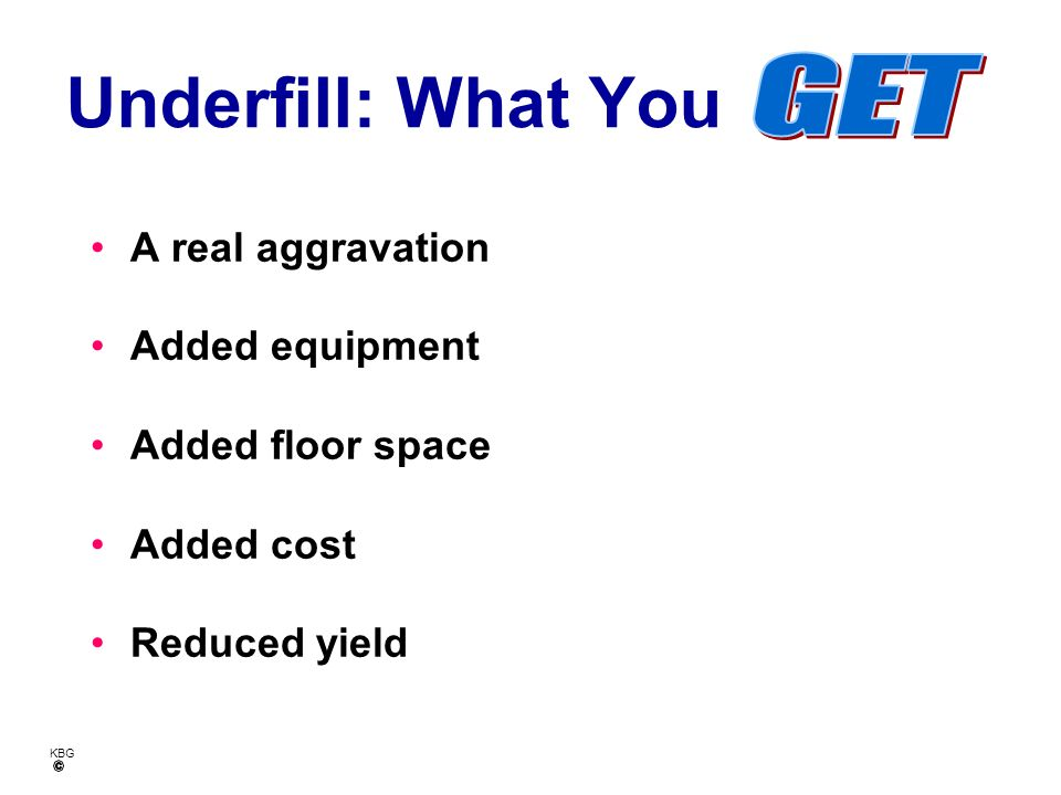 Underfill: What You GET A real aggravation Added equipment
