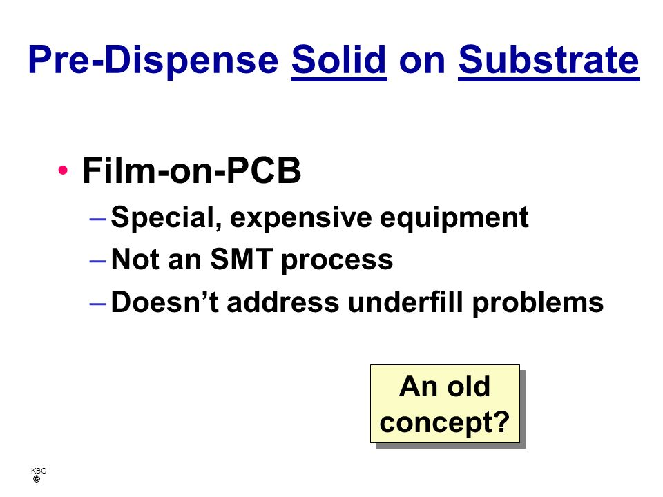 Pre-Dispense Solid on Substrate