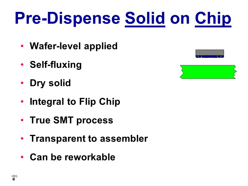 Pre-Dispense Solid on Chip