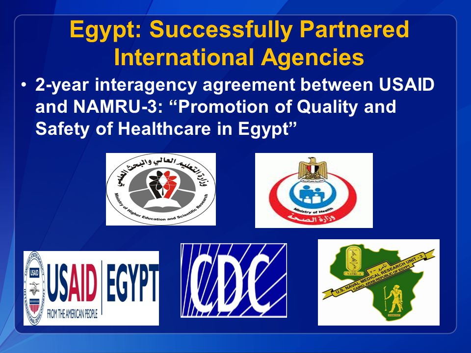 Egypt: Successfully Partnered International Agencies