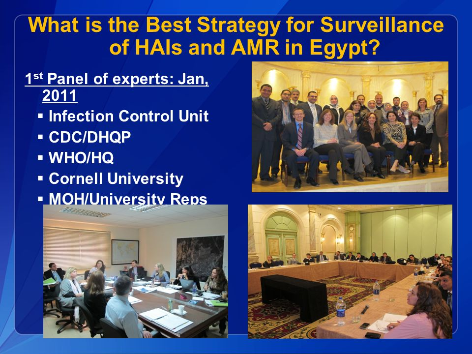 What is the Best Strategy for Surveillance of HAIs and AMR in Egypt