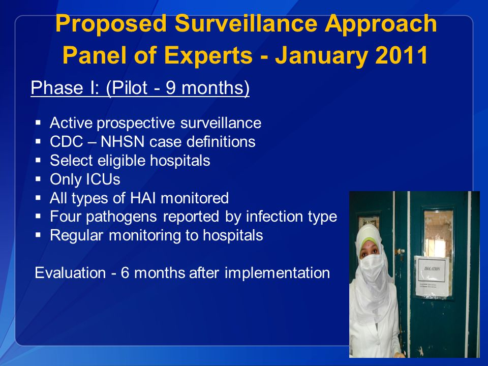 Proposed Surveillance Approach Panel of Experts - January 2011