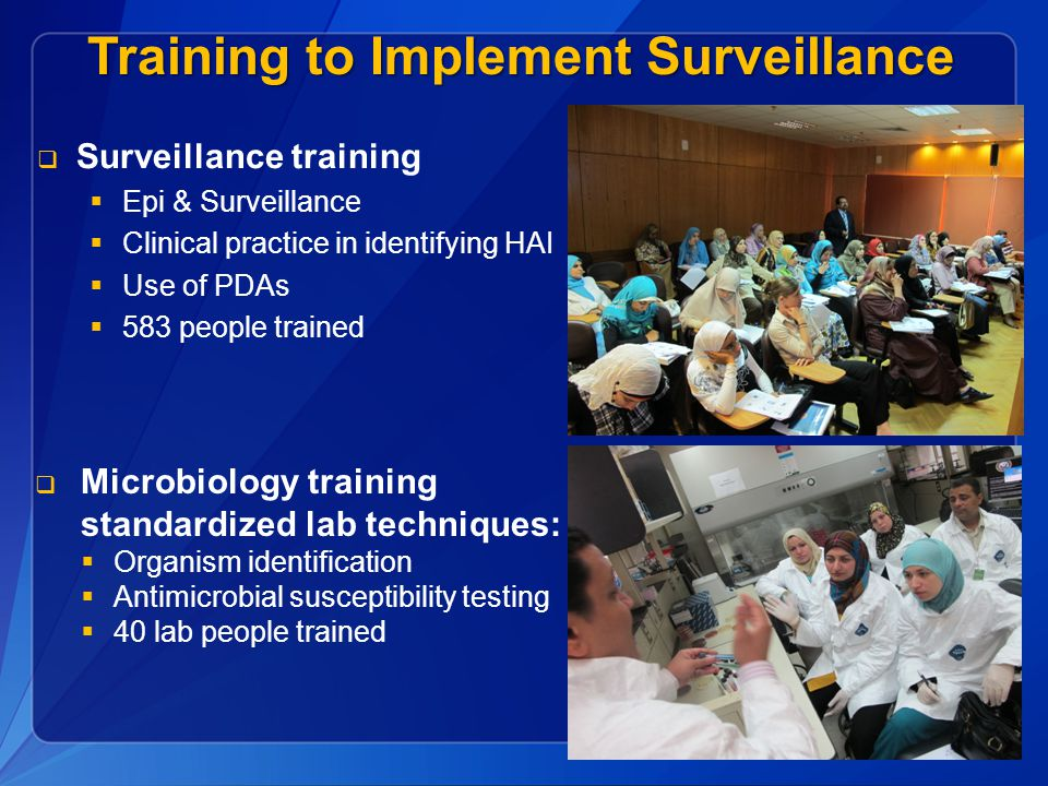 Training to Implement Surveillance