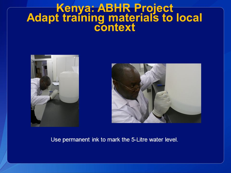 Kenya: ABHR Project Adapt training materials to local context
