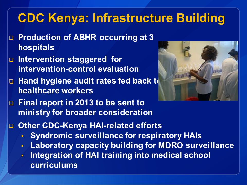 CDC Kenya: Infrastructure Building