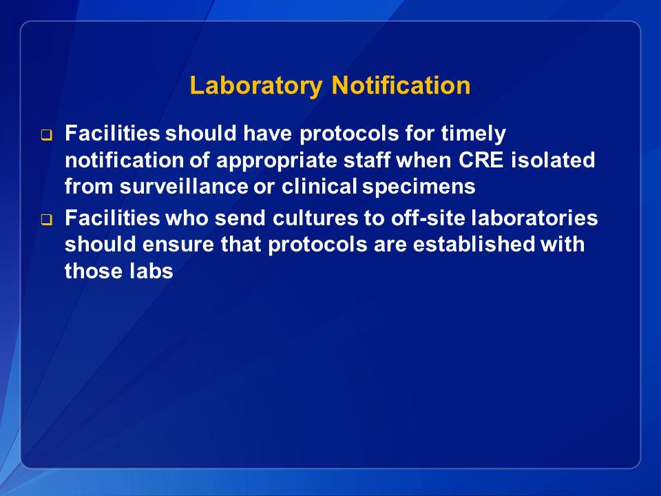 Laboratory Notification