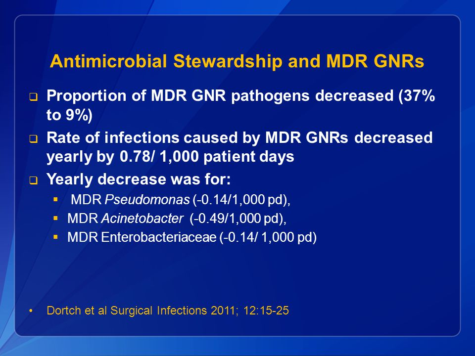 Antimicrobial Stewardship and MDR GNRs