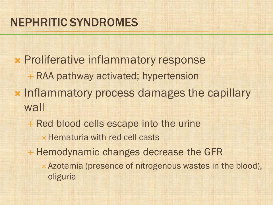 Proliferative inflammatory response