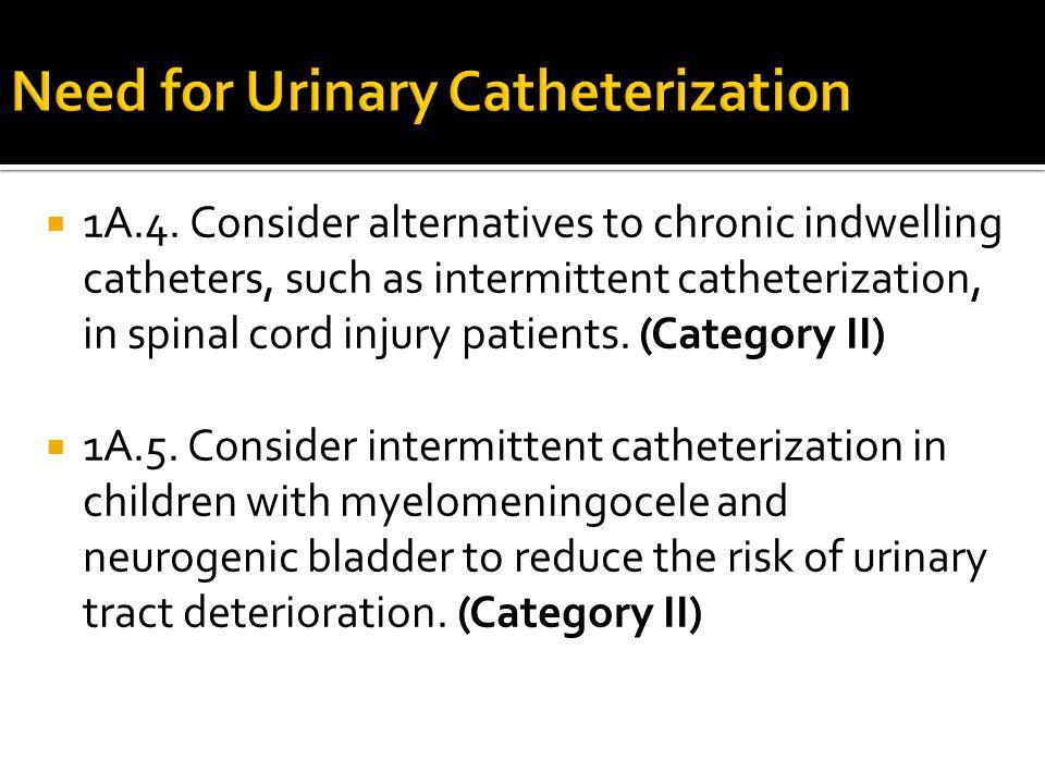 Need for Urinary Catheterization