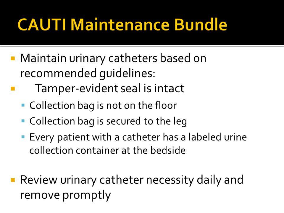 CAUTI Maintenance Bundle