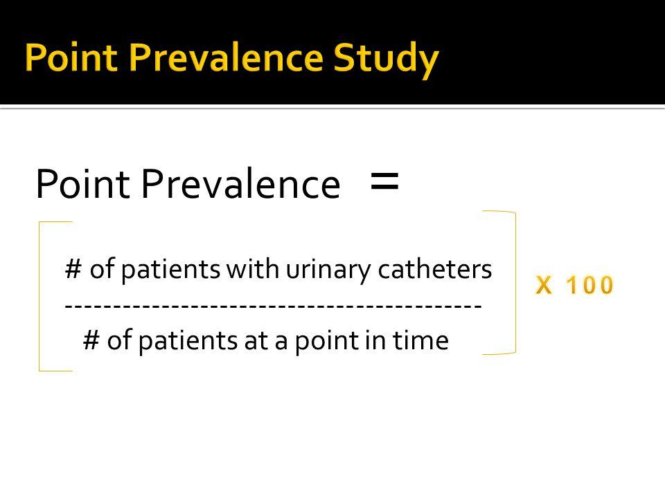 Point Prevalence Study