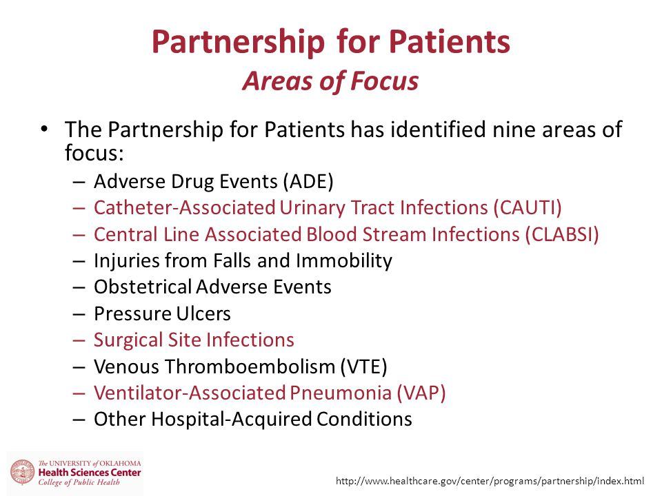 Partnership for Patients Areas of Focus