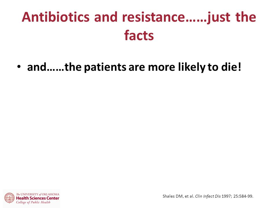 Antibiotics and resistance……just the facts