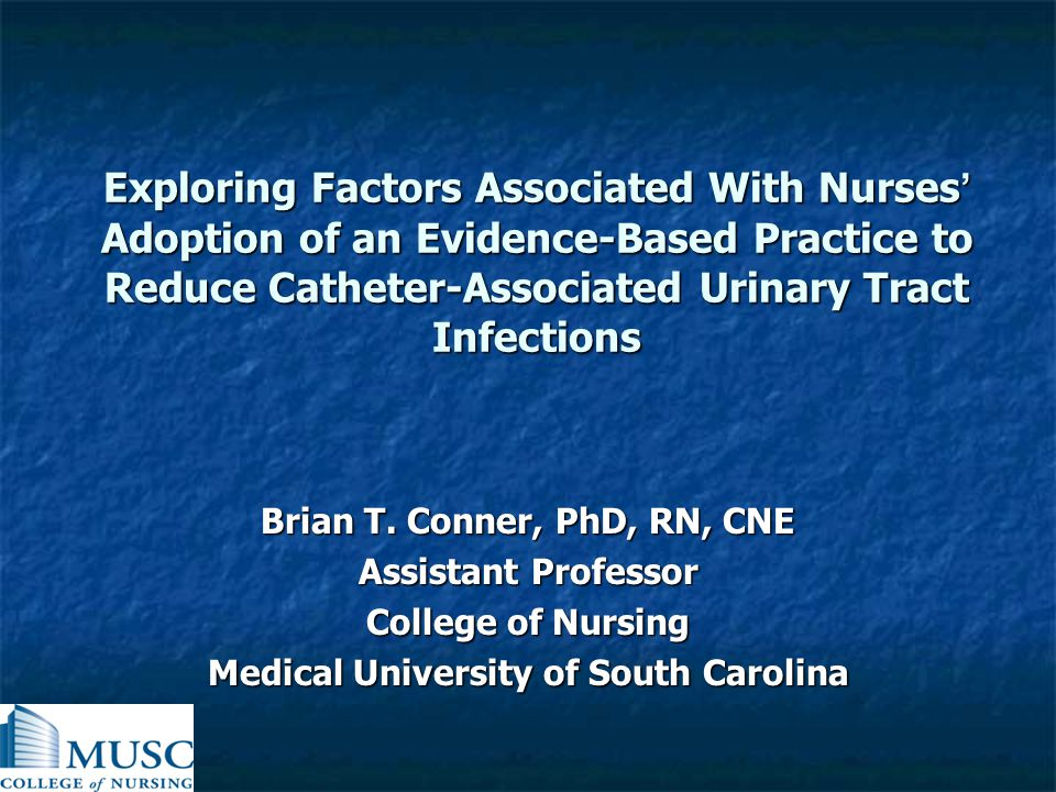 Brian T. Conner, PhD, RN, CNE Medical University of South Carolina