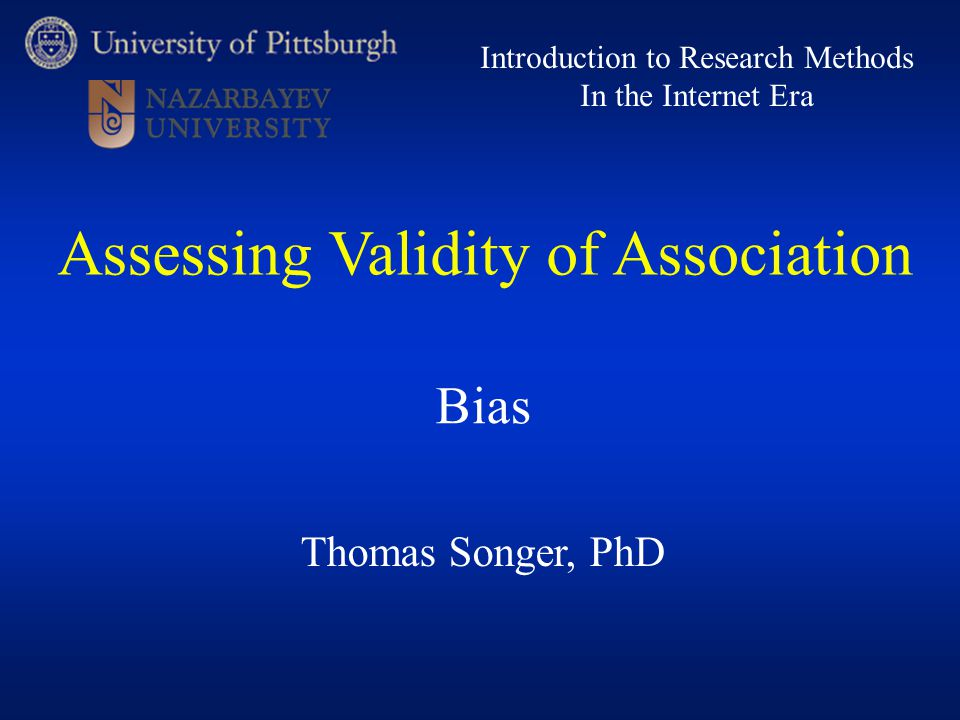 Assessing Validity of Association