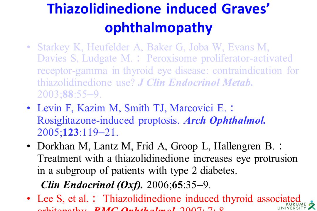 Thiazolidinedione induced Graves' ophthalmopathy