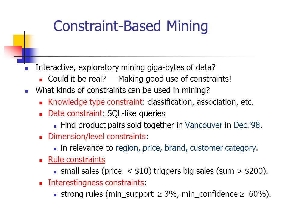 Constraint-Based Mining