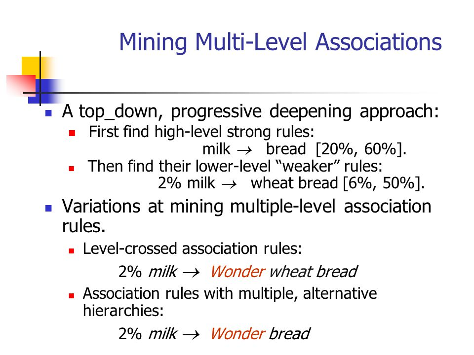 Mining Multi-Level Associations