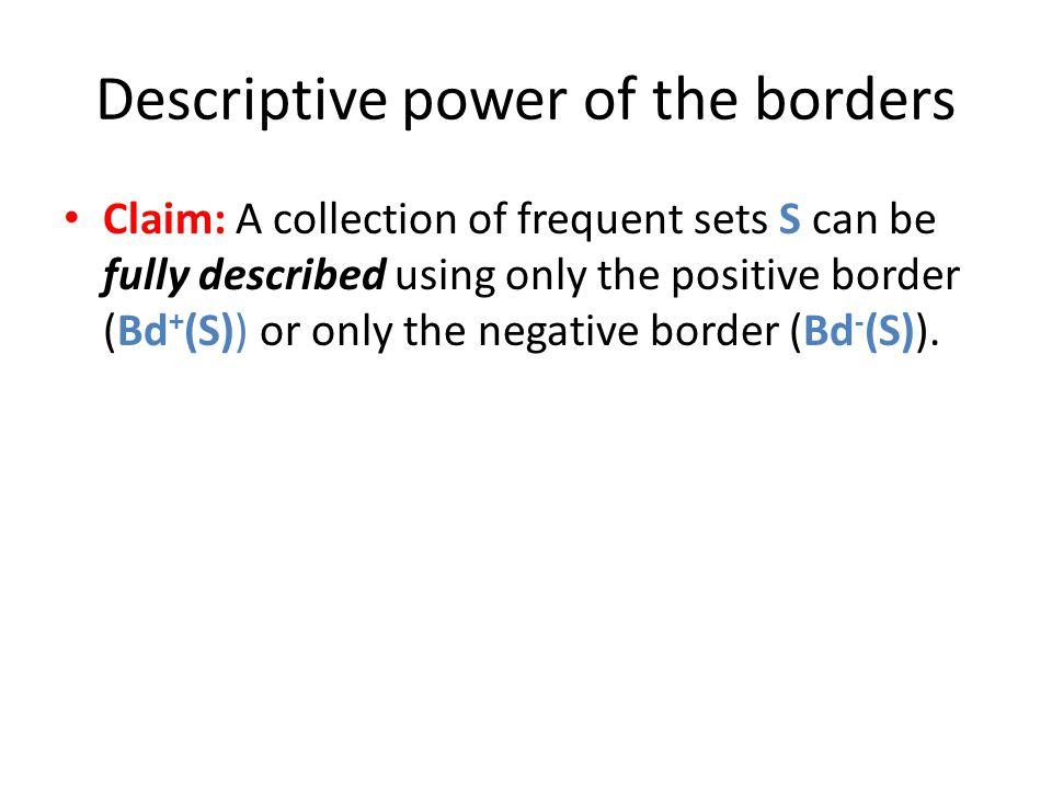 Descriptive power of the borders