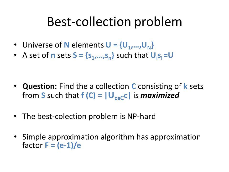 Best-collection problem