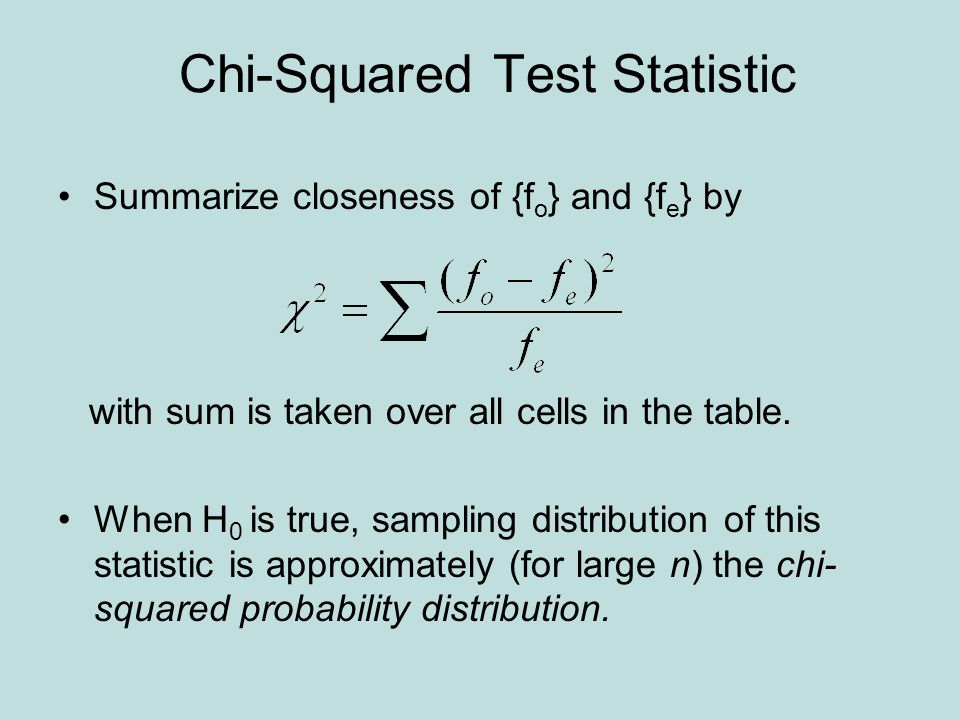 Chi-Squared Test Statistic