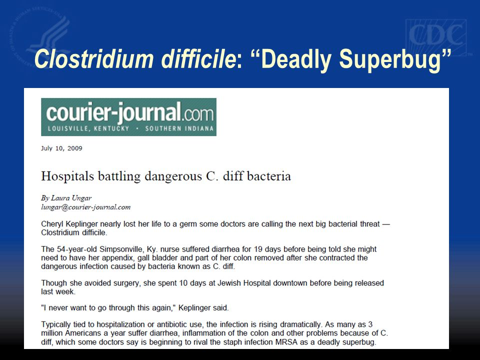 Clostridium difficile: Deadly Superbug