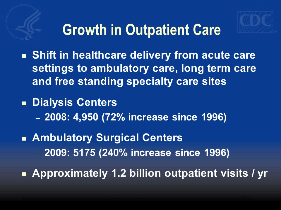Growth in Outpatient Care