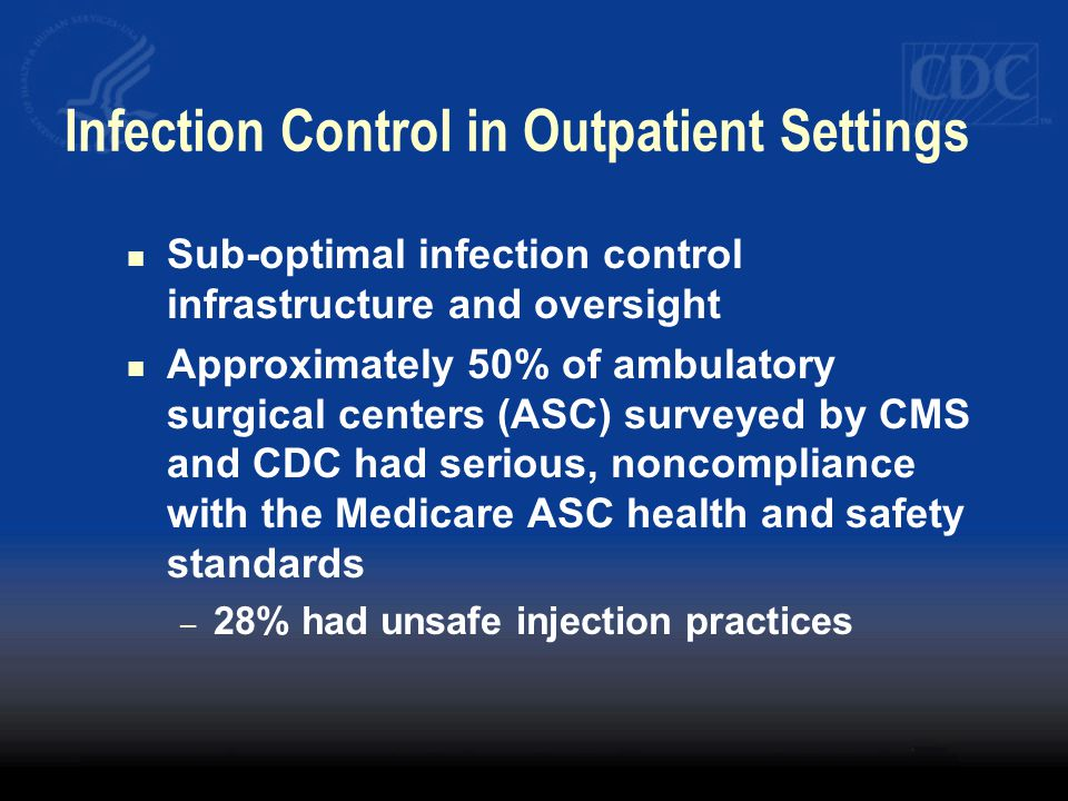Infection Control in Outpatient Settings