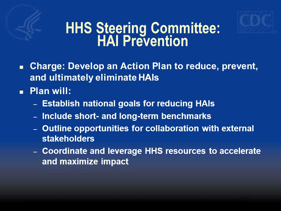 HHS Steering Committee: HAI Prevention