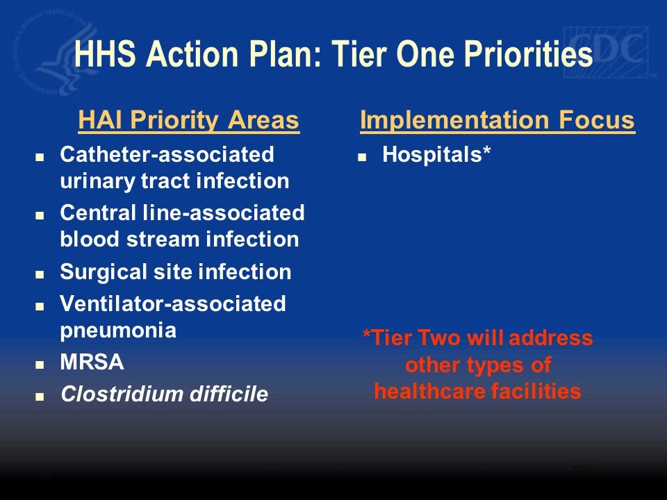 HHS Action Plan: Tier One Priorities