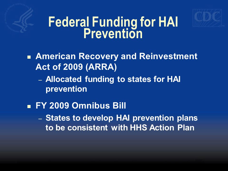 Federal Funding for HAI Prevention