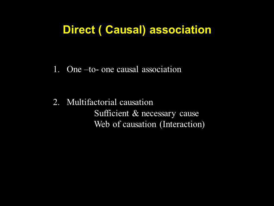 Direct ( Causal) association