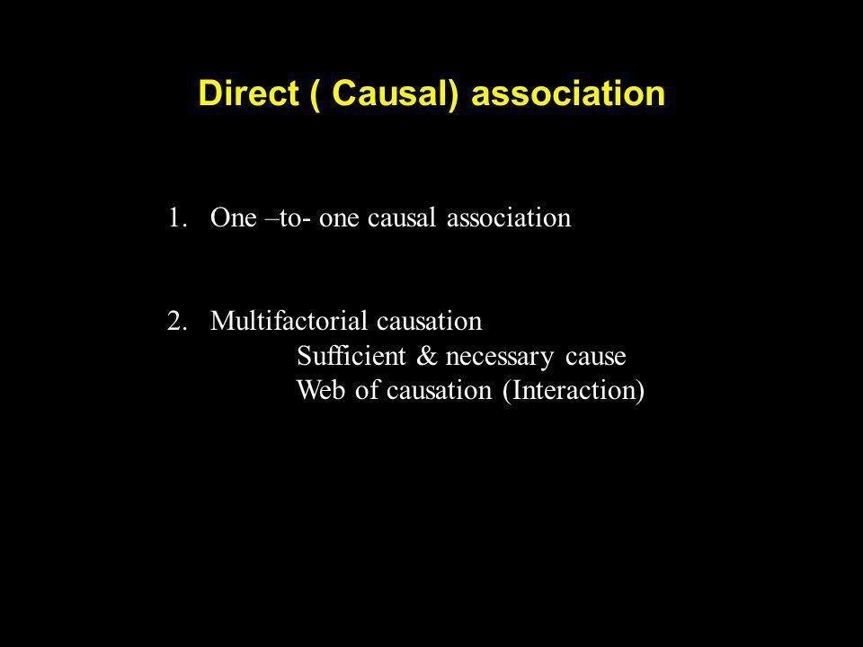 Direct ( Causal) association