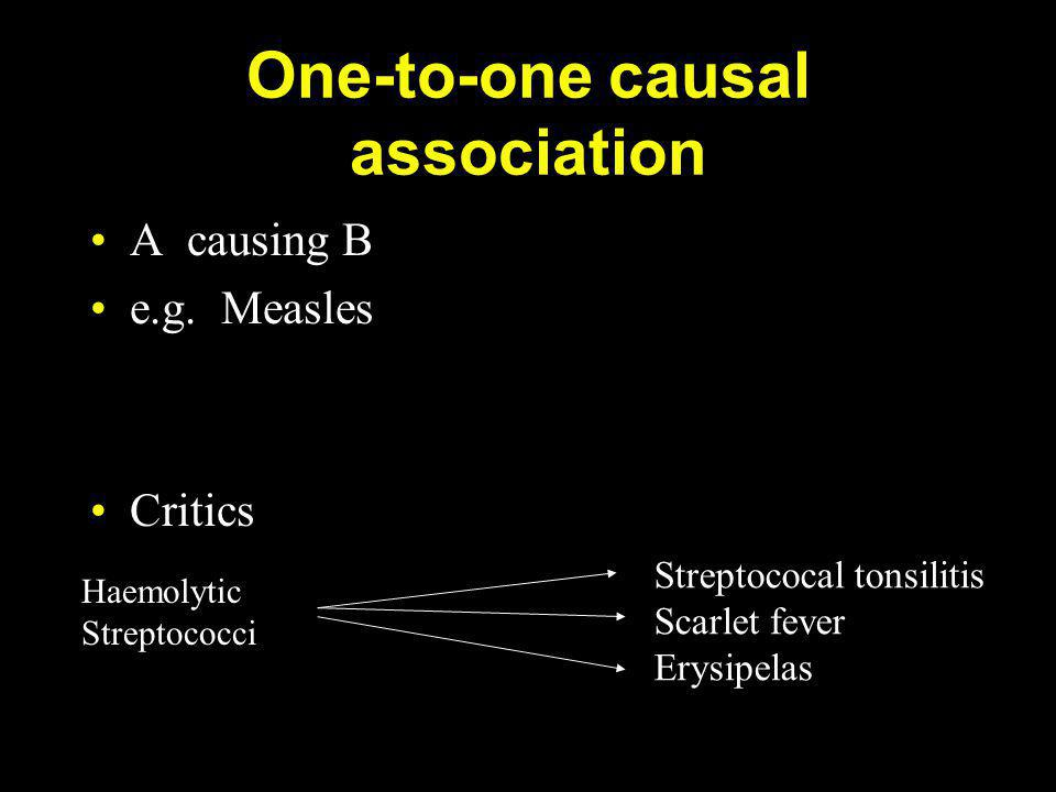 One-to-one causal association